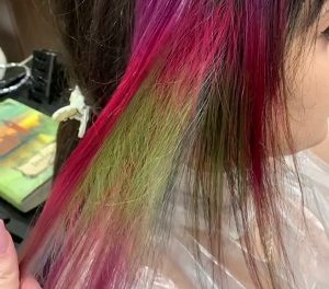 Окрашивание волос красителем прямого действия COLORTRIBE (прямой пигмент)